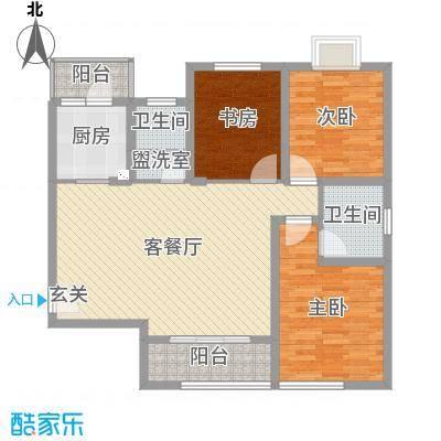 翰林缘花园122.00㎡C户型3室2厅2卫-副本