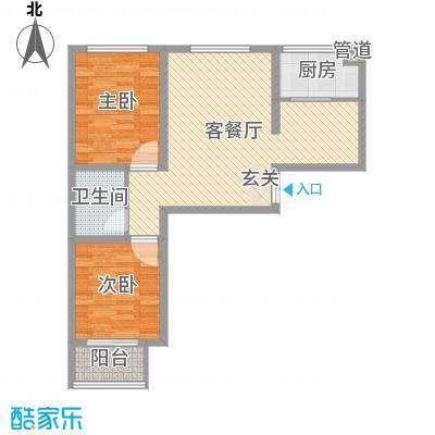 邢台_锦江华庭_1-1-04会霞简约大方两室两厅一卫户型