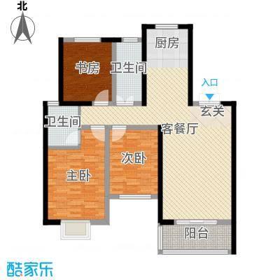 天明城113.52㎡3户型3室3厅1卫