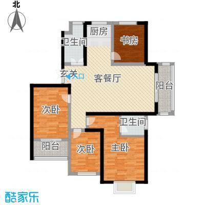 天明城123.00㎡6户型4室4厅2卫