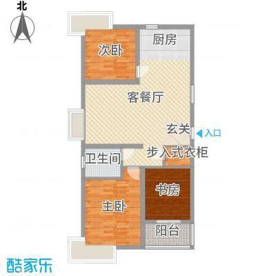 爱琴海105.16㎡7号楼r1户型3室3厅1卫