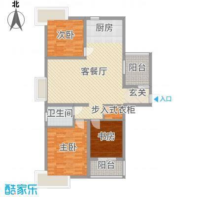 爱琴海112.84㎡7号楼r2户型3室3厅1卫