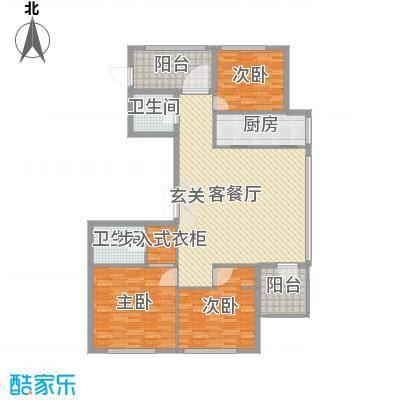 百合花园155.00㎡G1户型3室3厅2卫