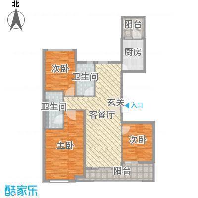 百合花园158.00㎡B1户型3室3厅2卫1厨
