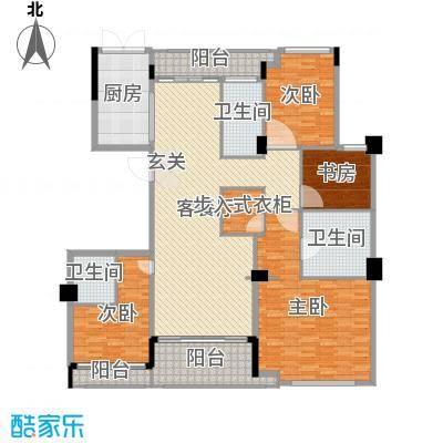 百合花园213.00㎡E2户型4室4厅3卫
