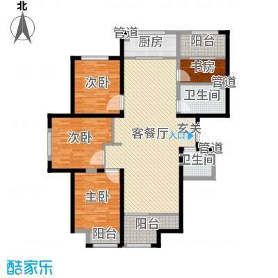 海唐罗马花园152.90㎡6#A户型4室4厅2卫1厨