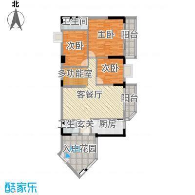 恒洲小苑137.82㎡06单位户型4室4厅2卫1厨