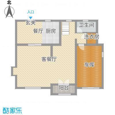 碧桂园海昌波尔多庄园255.00㎡A01一层户型3室3厅3卫1厨