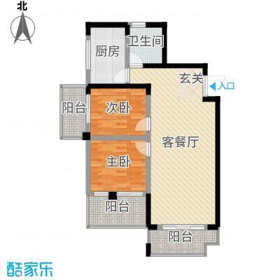 枫树园二期94.25㎡二期9栋21层9-04户型2室2厅1卫1厨