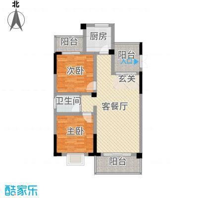 枫树园二期95.90㎡二期8栋18-27层8-01户型2室2厅1卫1厨