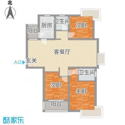 爱琴海123.05㎡10号楼t户型3室3厅2卫