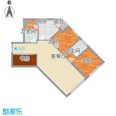 阳光100国际公寓114.65㎡D户型4室3厅2卫1厨-副本
