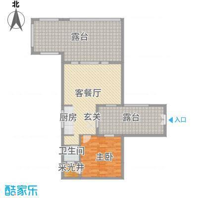 中铁国际旅游度假区55.00㎡一期复合式合院C户型1室1厅2卫
