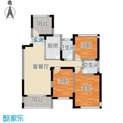 卓锦兰香108.00㎡2-5#D户型3室3厅2卫1厨