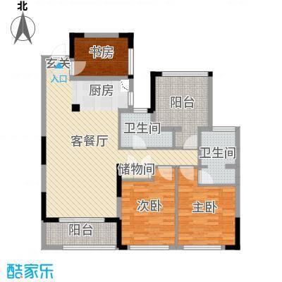 卓锦兰香118.00㎡7#E室户型3室3厅2卫1厨