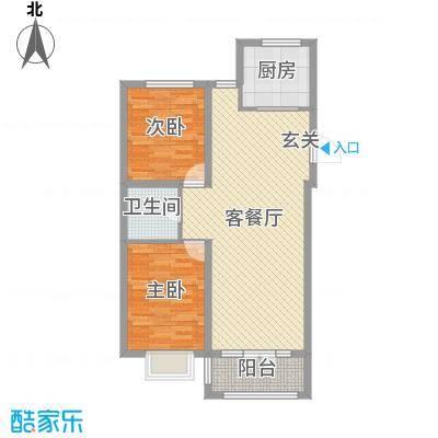 黄金蓝湾91.16㎡5#6#号楼C3居户型3室3厅1卫1厨
