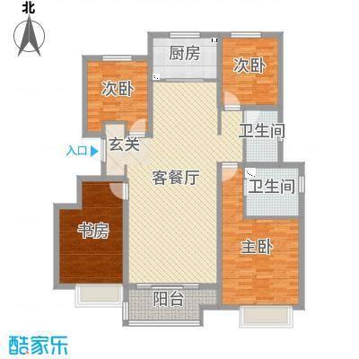 华润・仰山云栖径140.00㎡洋房标准层户型4室4厅2卫1厨