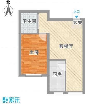 恒嘉・静海蓝湾52.00㎡A户型1室1厅1卫1厨