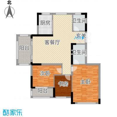 湘水郡141.00㎡8-1户型3室3厅2卫1厨