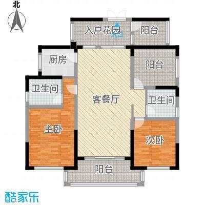 晟通牡丹舸142.93㎡5-8栋A户型3室3厅2卫1厨