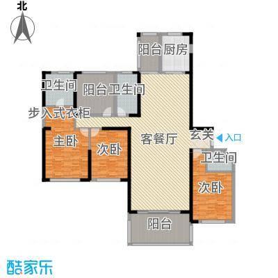 晟通牡丹舸233.38㎡8、9栋D户型4室4厅3卫1厨
