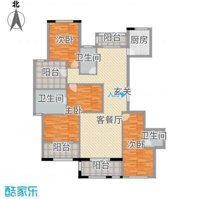 湘水郡191.35㎡5-C户型3室3厅3卫1厨