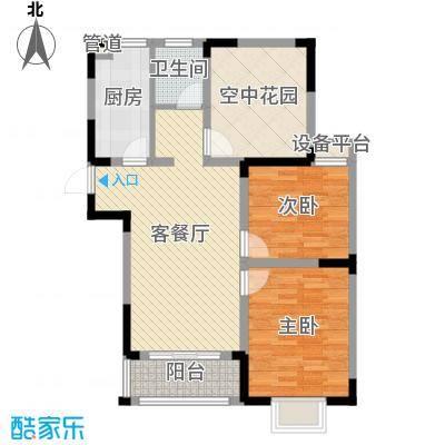 华夏世纪锦园户型图CC2户型 3室2厅1卫1厨-副本
