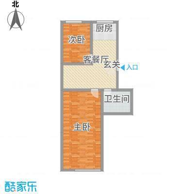 兴隆家园109.36㎡2#标准层E户型2室2厅1卫1厨