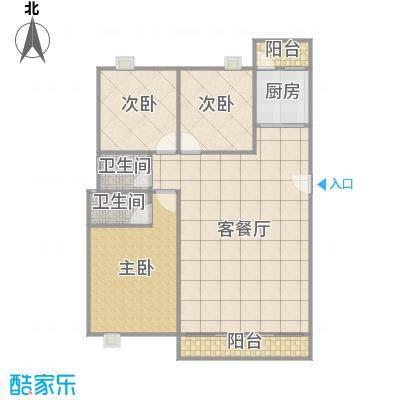美景花园一期E5-505A(109m²)3房1厅2卫