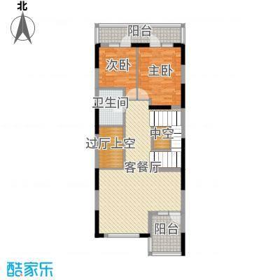 金河湾397.59㎡A地上二层户型3室3厅3卫1厨