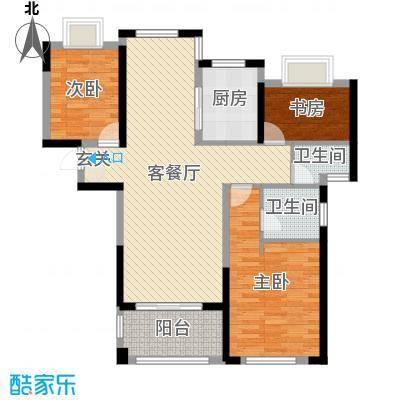 爵世名邸东湖110.00㎡A1户型3室3厅2卫1厨