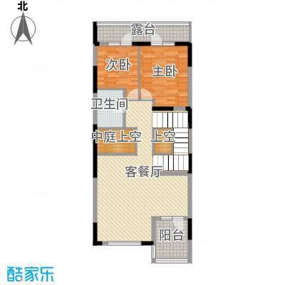 金河湾392.61㎡B二层户型2室2厅1厨