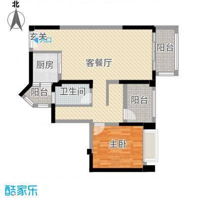 宇宏健康花城89.00㎡12栋04户型1室1厅1卫1厨