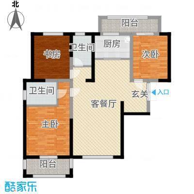宝信润山御林131.00㎡B7#号楼C3户型3室3厅2卫1厨