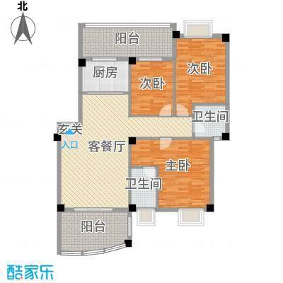 丽都・中央公馆118.00㎡D1户型3室3厅2卫1厨