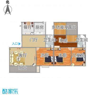 江都世纪豪园135-501室装修设计方案