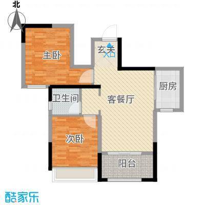 月桥花院89.00㎡三期29#、34-38#标准层中户I户型2室2厅1卫1厨