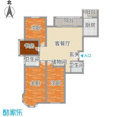 英伦名嘉153.50㎡3#、5#、6#楼C户型3室3厅2卫1厨