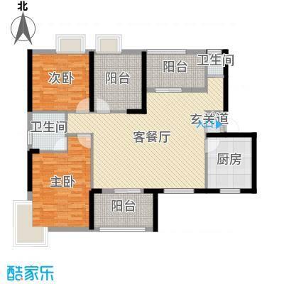 恒鑫山水卿卿121.16㎡B1户型3室3厅2卫1厨