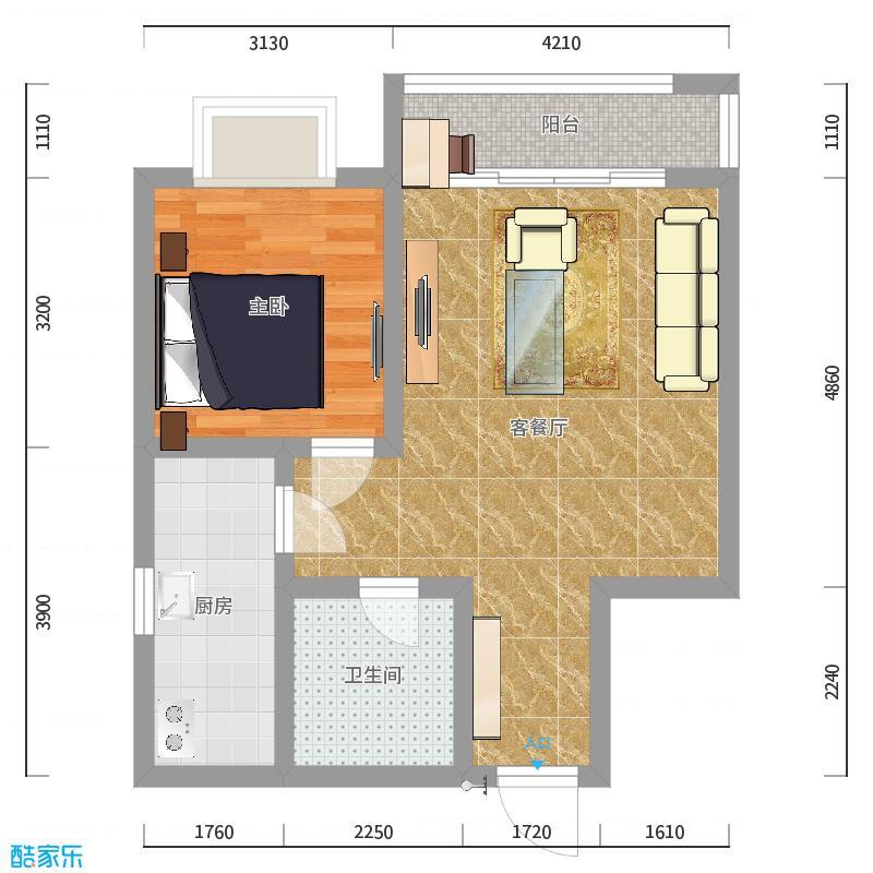 水木设计工作室_天津钱女士设计师-李晓晨_概览效果图