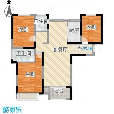 月桥花院113.00㎡三期29#、34-38#边户H户型3室3厅2卫1厨