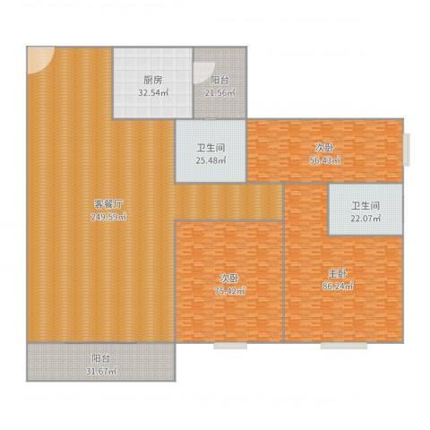 丽园盛景27栋702-107m²三房两厅两卫