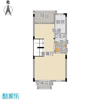 南峰华桂园253.00㎡四拼D2一层户型2室2厅2卫1厨