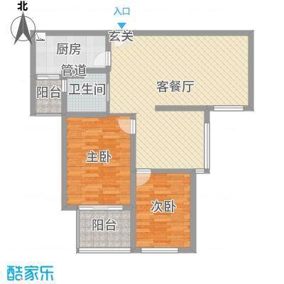 扬州国际公馆89.00㎡一期D2户型3室3厅1卫1厨