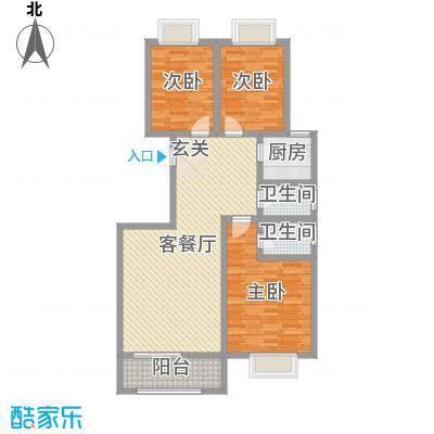 公园新世纪122.20㎡7号楼12009/户型3室3厅2卫1厨