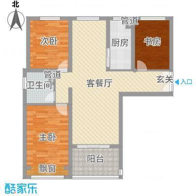 扬州国际公馆89.00㎡一期A1户型3室3厅1卫1厨
