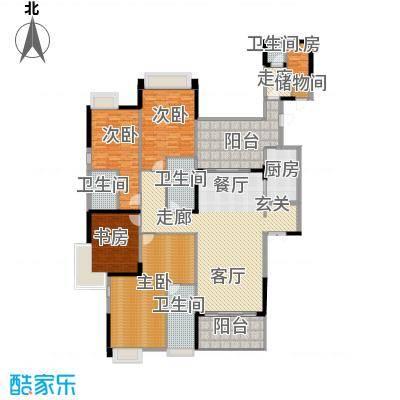 龙泉豪苑二期D3#-5#标准层户型4室1厅4卫1厨-副本