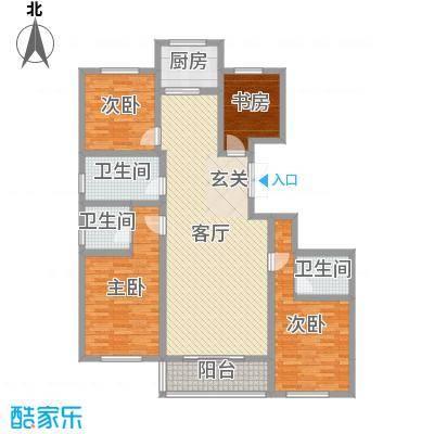 凤凰城165.58㎡B21#户型4室4厅2卫1厨