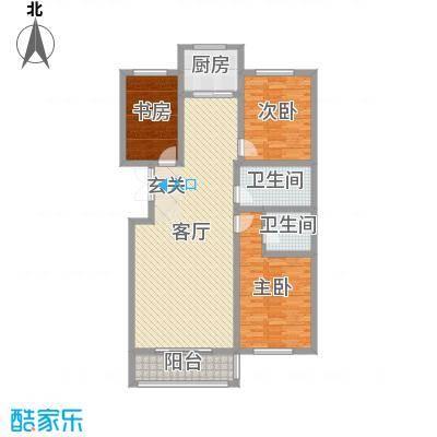 凤凰城139.29㎡A21#户型3室3厅2卫1厨