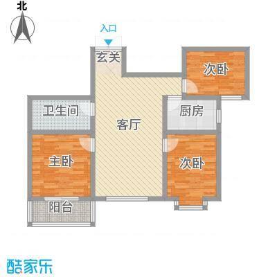 凤凰城111.41㎡B18#/19#户型3室3厅1卫1厨